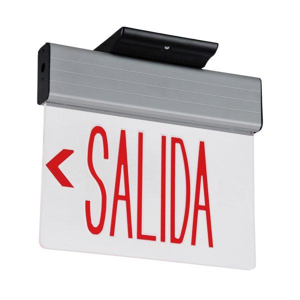 LETRERO EMERGENCIA LED UL SALIDA ROJO 3W