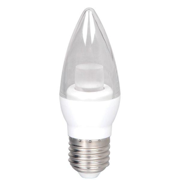 FOCO VELA LED TRANS C37 E27 5W 6500K