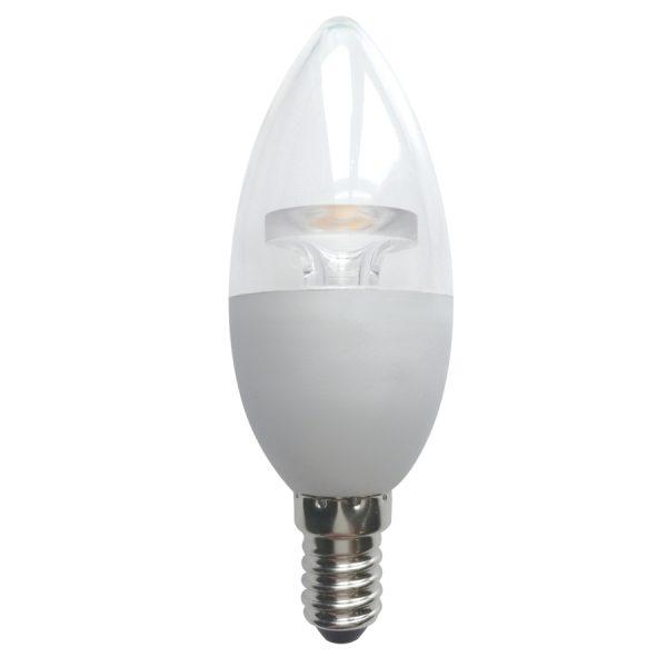 FOCO VELA LED TRANS C37 E14 6W  2700K