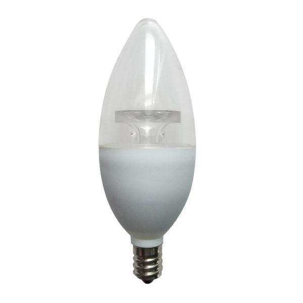 FOCO VELA LED TRANS C37 E12 6W