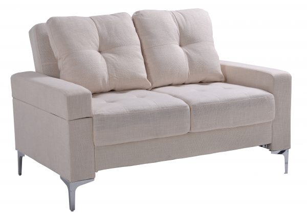 SOFA 2P CON RESPALDAR MOVIBLE COLOR BEIGE